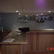 custom woodworking flooring counter basement bar with sink