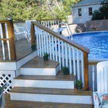 custom woodworking pool porch