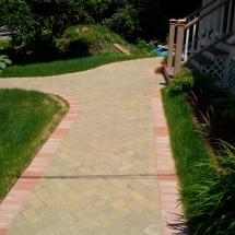 custome stoneworking walking path
