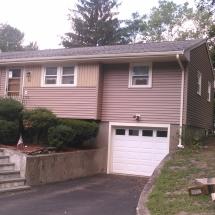 Front of House Doors, Windows, Garage Door, and Siding