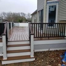 long back porch after rain