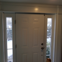 Front door with window on sides