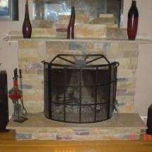 stoneworking fireplace