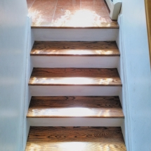 wood floors with stone tile