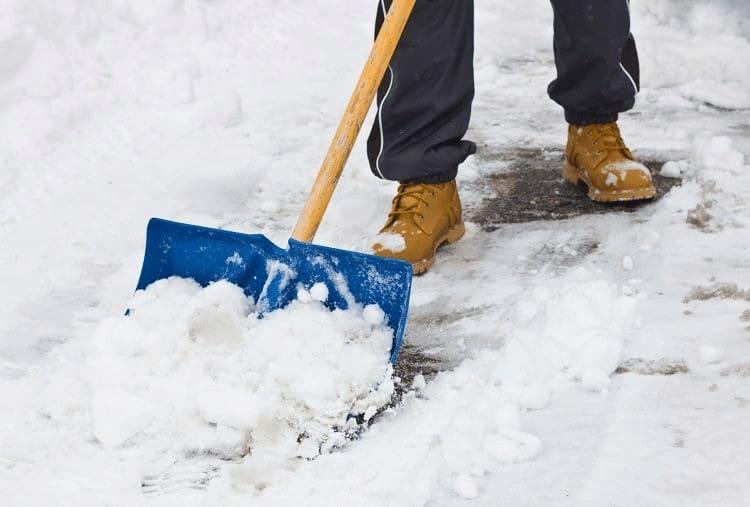 person shoveling