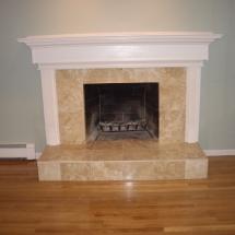 custom stone working fireplace