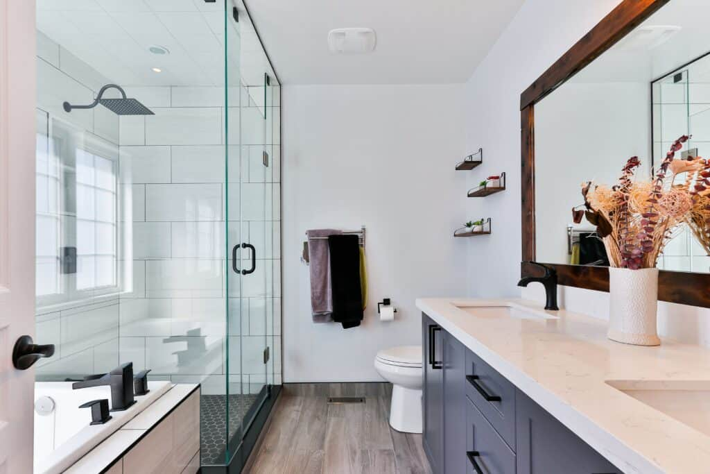 Renovated Bathroom with Plenty of Natural Light